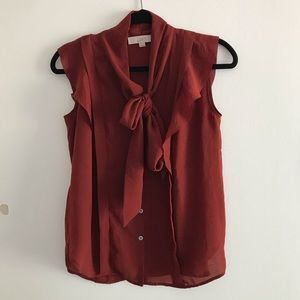Ann Taylor LOFT Red Blouse